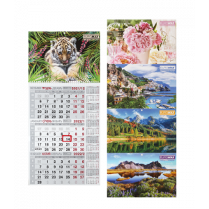 Календарь 2022, настенный перекидной, на 1 пружине Buromax  (ассорти), (BM.2106)